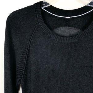 Lululemon Sit In Lotus Black Sweater Tunic